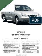 1998-2001 Daewoo Nubira Service Manual