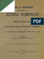Nicolae_Iorga - Studii Și Documente Cu Privire La Istoria Românilor - I - Socotelile Bistriței (Ardeal). II - Acte Relative La Istoria Cultului Catoli