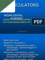 Articulators Crown &Bridge / orthodontic courses by Indian dental academy