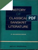 History of Classical Sanskrit Literature - M. Krishnamachariar_Part1