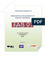 Fabrication and Processing of Grade 91 Material