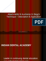 Attachments in Beggs Technique-Ortho / orthodontic courses by Indian dental academy