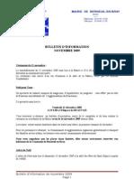 bulletin d'information de novembre 2009
