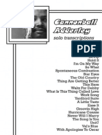 Cannonball Adderley Solo Transcriptions
