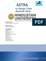 Aero Design West Design Report,Hindustan University- 214