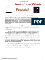 Chemical of the Week -- Fireworks!