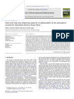 Short and Long Term Dispersion Patterns of Radionuclides in the Atmosphere
