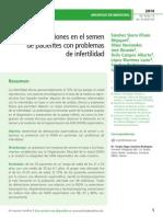 Alteraciones en el semen  de pacientes con problemas  de infertilidad