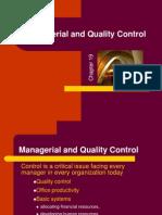 Managerial & Quality Control