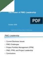 Power of PMO Leadership