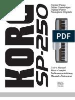 KORG SP250 Handbuch