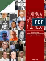 Guatemala Impunidad y miedo