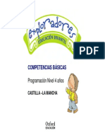 Programación Competencias Básicas Exploradores 4 Años Infantil Castilla-La Mancha