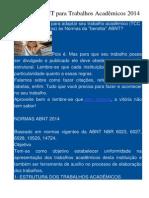 Normas ABNT Para Trabalhos Acadêmicos 2014