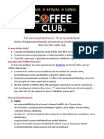 Coffee Club Organizare 2014 Final