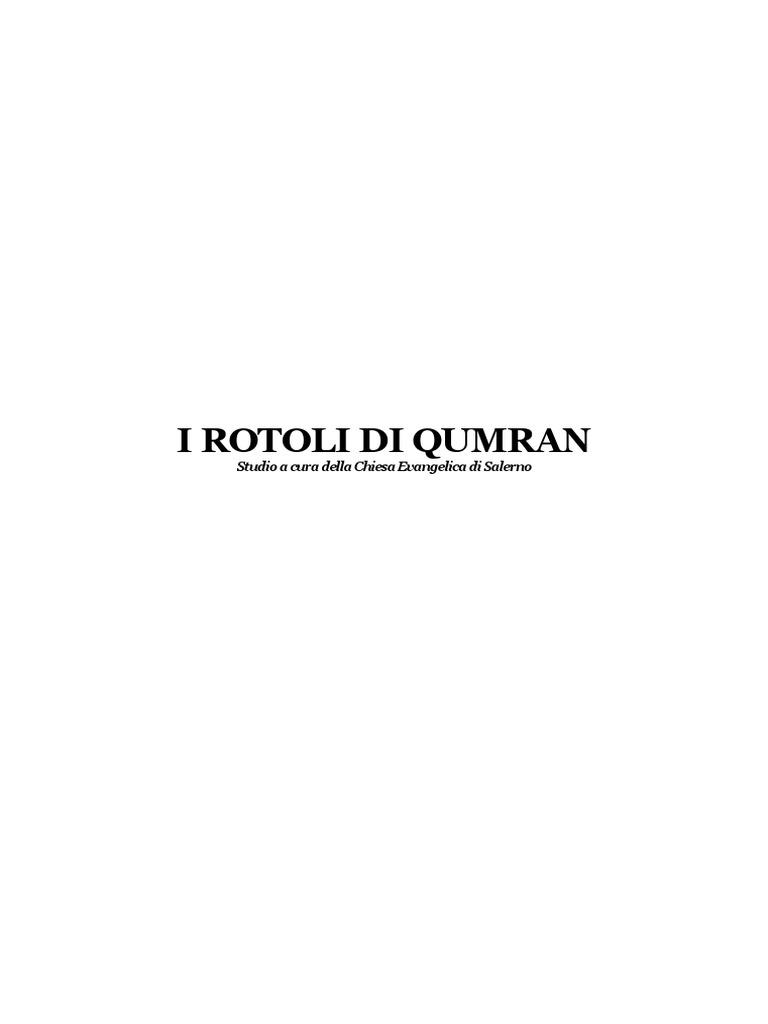 Calendario Liturgico Qumran.I Rotoli Di Qumran Studio A Cura Della Chiesa Evangelica Di