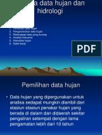 Analisa Data Hujan Dan Hidrologi