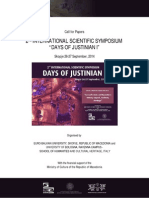 2nd International Symposium Days of Justinijan 2014 - Call for Papers Final