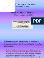 Word Recognition Skills