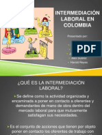 Intermediación Laboral en Colombia