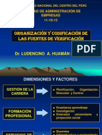 Organizacion Fuentes de Verificacion