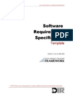 Sdlc Softwarerequirements Template