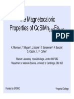The Magneto Caloric Properties of Com Ns i Final