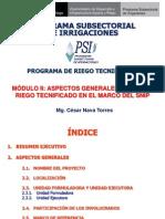 MODULO II - Aspectos Generales de PIPs de Riego Tecnificado 2013