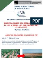 MODULO II - Modificaciones Del Reglamento Del PRT 2013