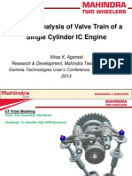 Dynamic Analysis of Valve Train Single Cylinder IC Engine