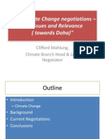 The Climate Change Negotiations