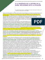 Joaquim Prats, DIFICULTADES PARA LA ENSEÑANZA DE LA HISTORIA EN LA EDUCACIÓN SECUNDARIA_ REFLEXIONES ANTE LA SITUACIÓN ESPAÑOLA [1].pdf