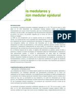 Metástasis Medulares y Compresión Medular Epidural Metastásica