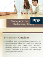 Strategies in Curriculum Evaluation