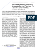 A Comparative Study of Dose Transmission Factor of Polythene and Borated Polythene for High Neutron Source Shielding