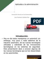 Inovación Tecnologíca en Los Automoviles