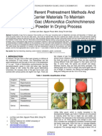 Investigation Different Pretreatment Methods and Ratio of Carrier Materials to Maintain Carotenoids in Gac Momordica Cochinchinensis Spreng Powder in Drying Process
