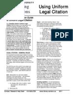 Citation Legal Style