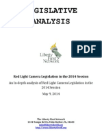 Red Light Camera Legislation in the 2014 Session