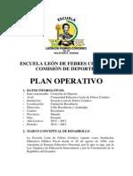 Plan Operativo de La Comisiòn de Deportes