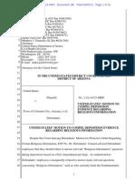 Motion to compel deposition in Justice Dept. lawsuit against Hildale/Colorado City