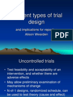 Different Types of Trial Design..