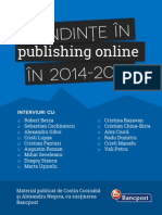 Tendinte in Publishing Online in 2014_2015