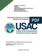 Educación Ambiental en El Instituto Emiliani Somascos de Guatemala