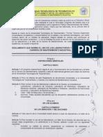 Reglamento Norma Laboratorios Talleres Carrera Mantenimiento