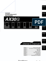 KORG AX30G- Users Manual