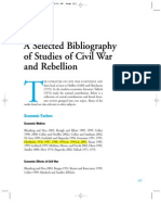A bibliography fo literature for civil war