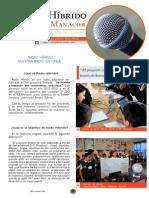Reportaje Radio Híbrido en la revista del IES Manacor