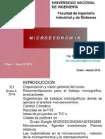 Clase 1 Introducción a La Microeconomia Enero 8, 2014