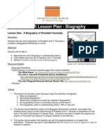 Jfk Biography Pre Visit Lesson Plan